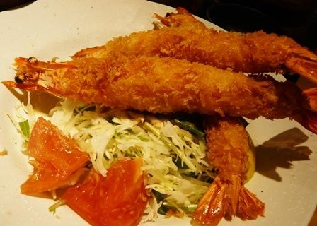 ためつ食堂:大海老フライ定食1
