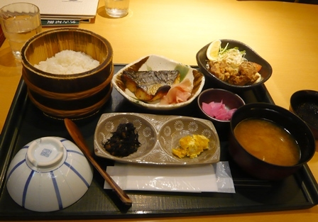 ためつ食堂:鰆西京漬け焼き定食1