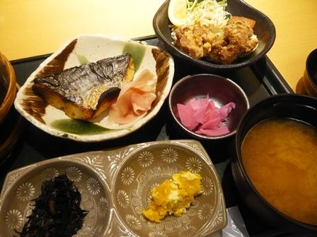 ためつ食堂:鰆西京漬け焼き定食2