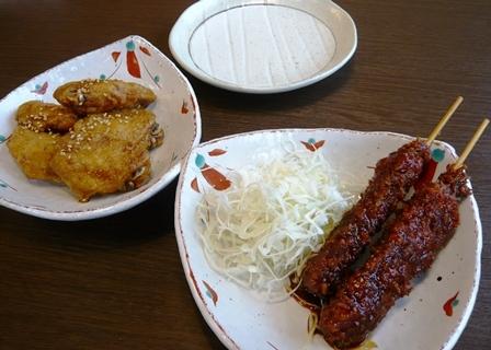 サガミ:味噌串カツ、手羽先