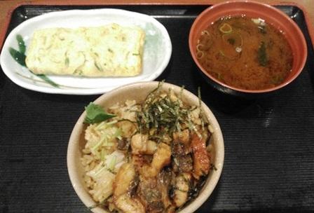 めしや食堂:まぶし、玉子焼き、味噌汁