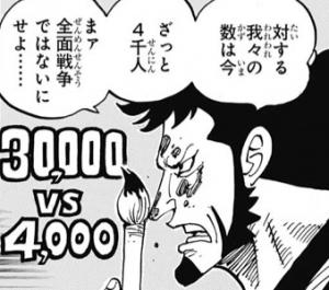 3万人vs4千人