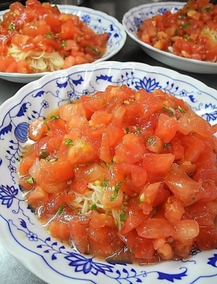 20190806トマトの冷製パスタ