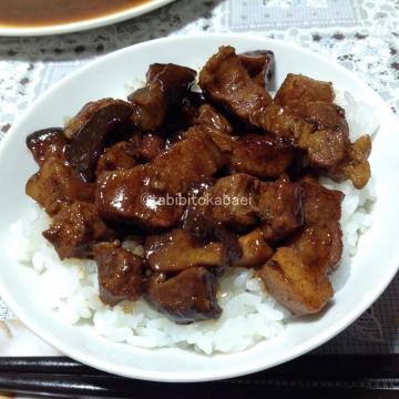 夕食に魯肉飯_result