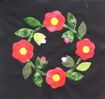 お花のアップリケ3-1