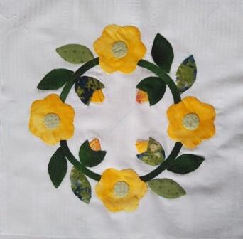 お花のアップリケ3-2