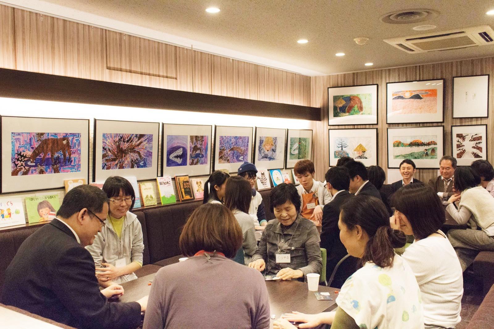 2019年4月12日の絵本屋さんボードゲーム会第1回の様子
