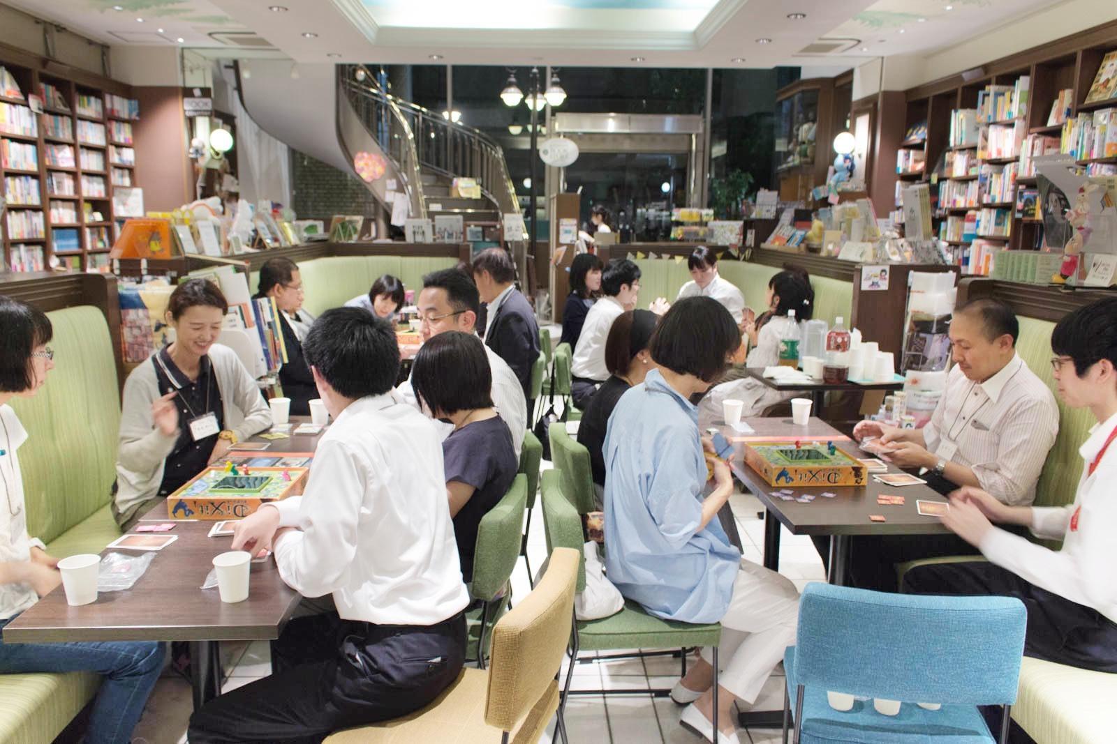 2019年7月5日の絵本屋さんボードゲーム会第2回の様子