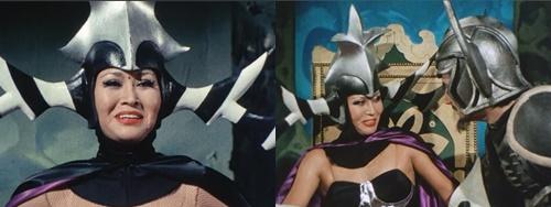 戦隊ヒーロー、デンジブルーが女怪人に弄ばれてやられる