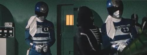 捕らわれた戦隊ヒーロー、デンジブルー