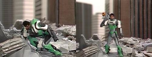 警察ヒーロー「サイバーコップ」マーズのマスクオフ