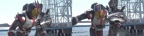 変身ヒーロー、仮面ライダー555がフルボッコにやられる