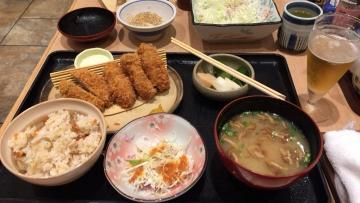 ヒレ&カキフライ定食