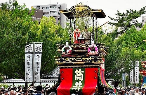 徳川園山車揃えの湯取車