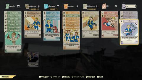『フォールアウト76』SPECIALシステムのPerkカードとスキルのフリ直しを防ぐ!スキル振り分けシュミレーションサイト(Fallout 76)