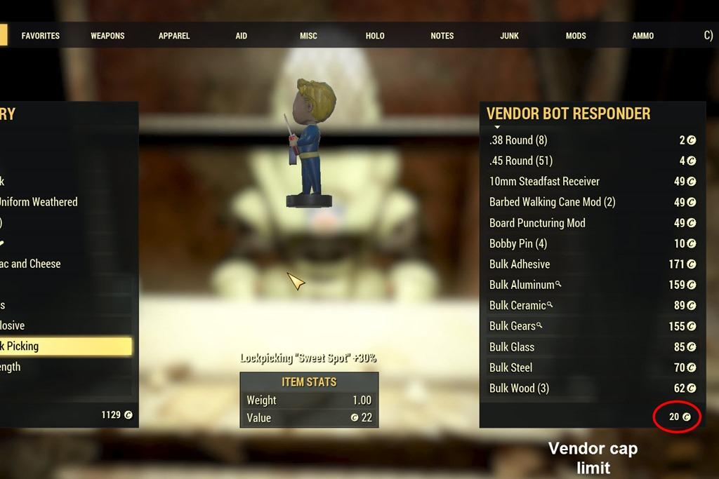 『フォールアウト76』ベンダー(商人)場所一覧と所属派閥・売買取引の仕方!(Fallout 76)