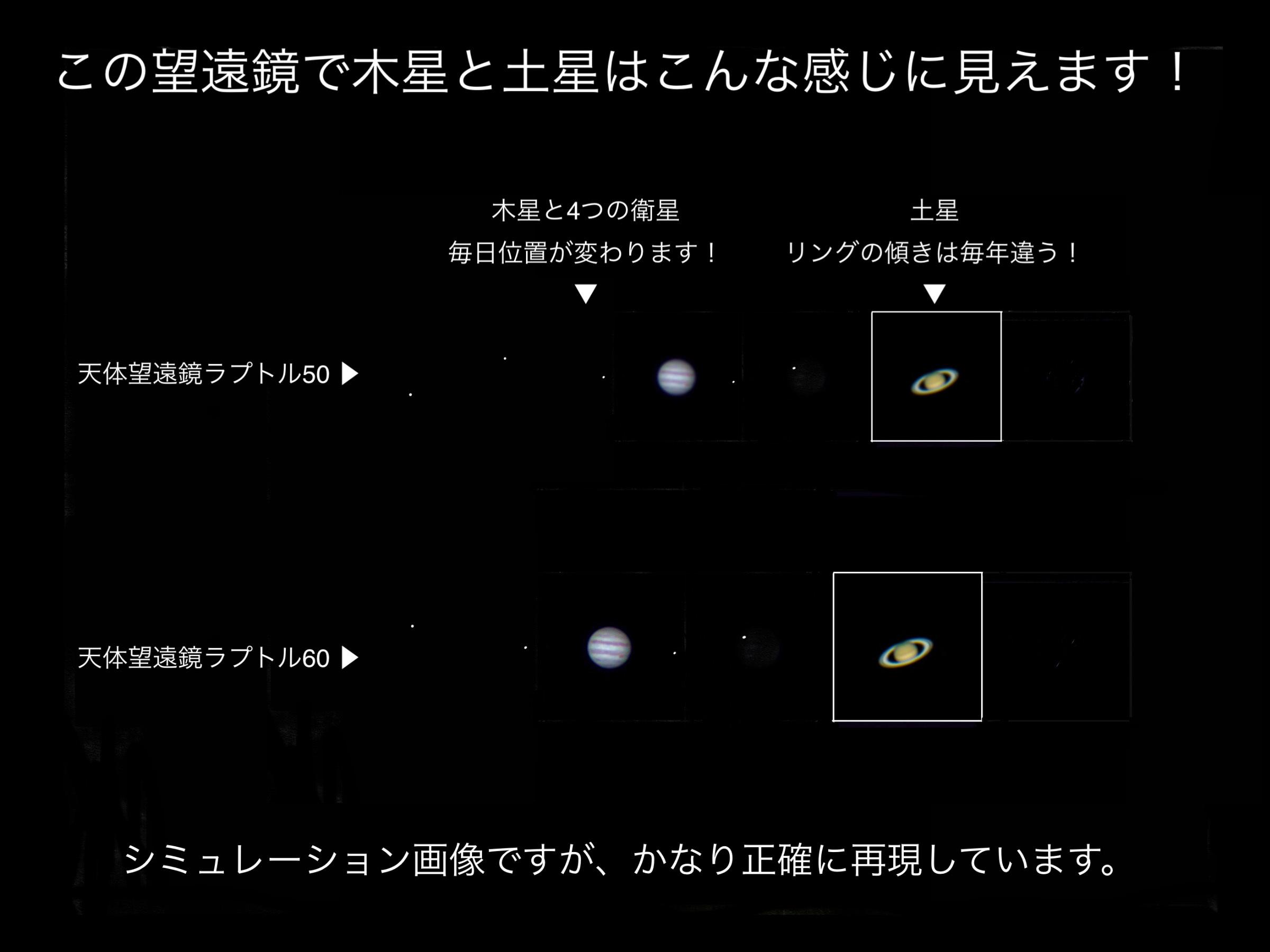 土星木星こんな風に見える
