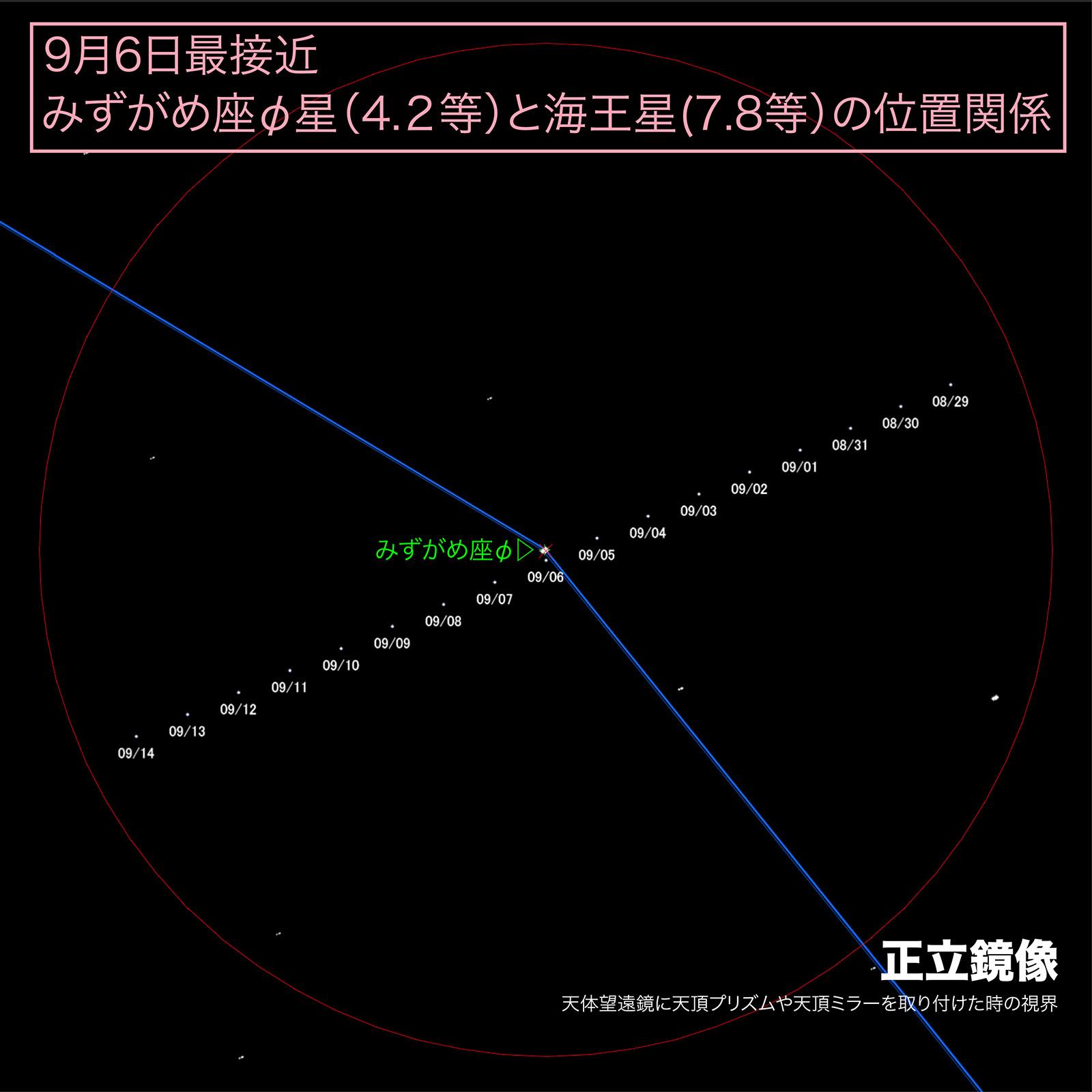 海王星正立鏡像チャート