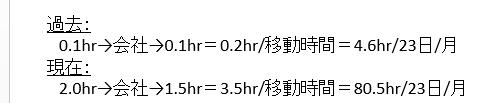 ①移動時間表