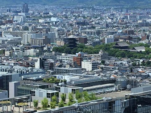 京都タワーから見た東寺五重塔_H30.06.16撮影