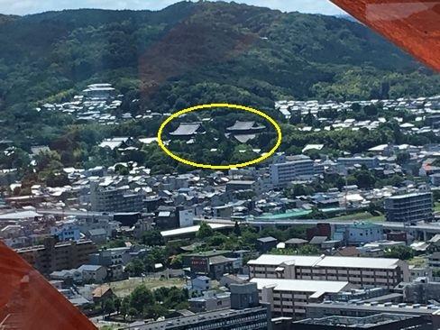 京都タワーから見た東福寺_H30.06.16撮影