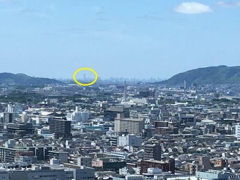 京都タワーから大阪方面_H30.06.16撮影