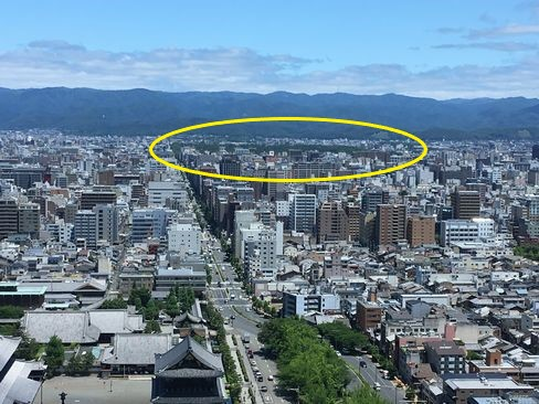 京都タワーから京都御苑_H30.06.16撮影