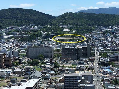 京都タワーから三十三間堂_H30.06.16撮影