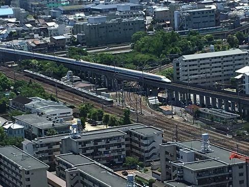 京都タワーから新幹線_H30.06.16撮影