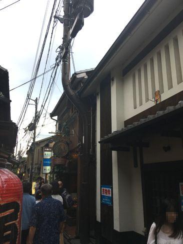 先斗町6本目の電柱_H30.06.15撮影