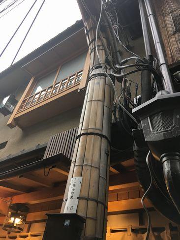 先斗町11本目の電柱_H30.06.15撮影