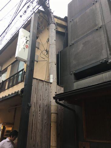 先斗町13本目の電柱_H30.06.15撮影