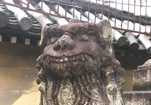 下御霊神社・狛犬(吽形)_H30.06.15撮影