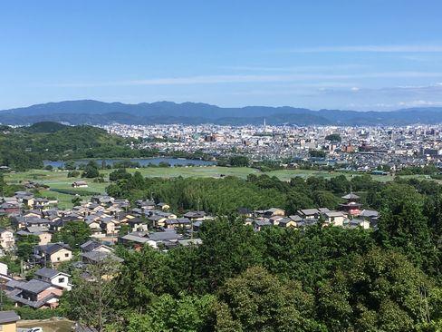 嵯峨天皇陵から見える嵯峨野_H30.06.16撮影