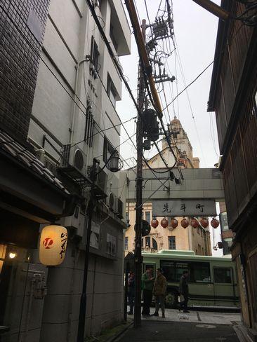 先斗町1本目の電柱 H31.02.09撮影
