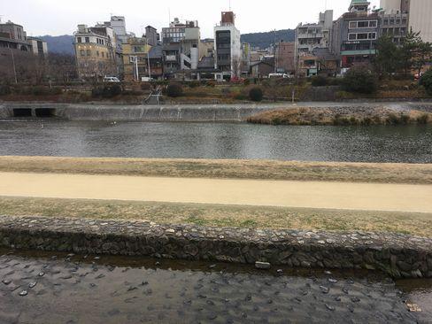 先斗町から鴨川_H31.02.09撮影