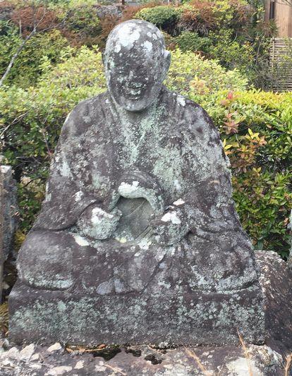 蓮華寺・石仏群・僧形坐像_H31.02.09撮影