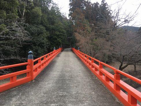 本圀寺の赤い橋_H31.02.09撮影