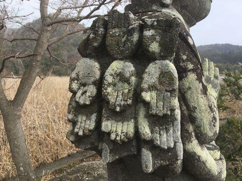 広沢池・十一面千手観音像_R01.02.10撮影