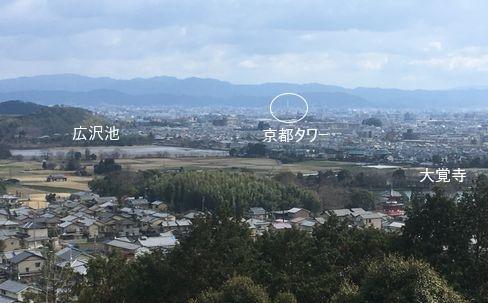 嵯峨天皇陵から見える嵯峨野_H31.02.10撮影