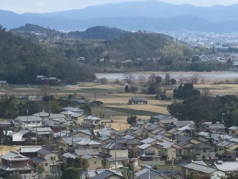 嵯峨天皇陵から見える広沢池_H31.02.10撮影