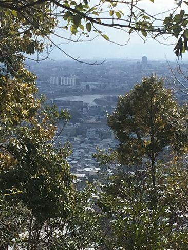 嵯峨天皇陵から見える桂川_H31.02.10撮影