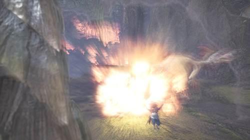 大爆発から逃げる猫