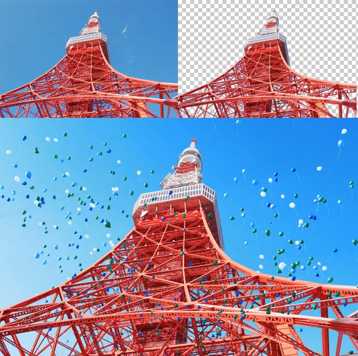 東京タワー合成
