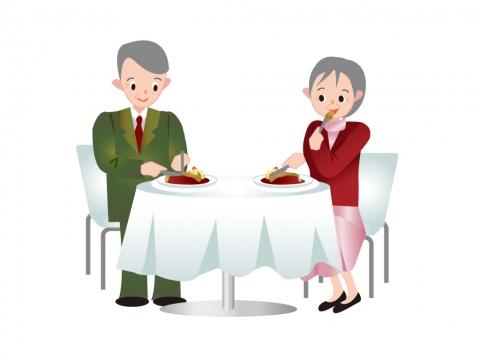 老夫婦 レストラン
