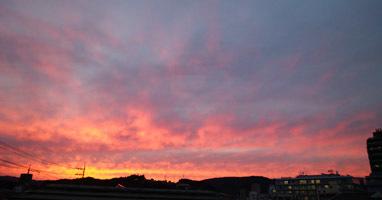 1012 1750 頃の夕日