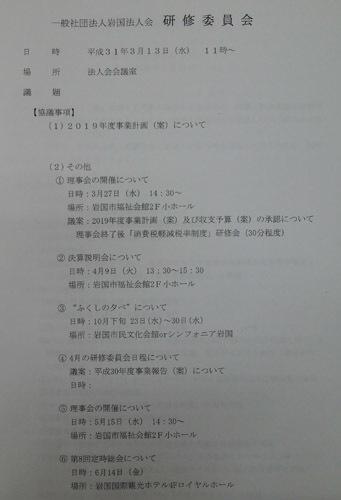 190313 研修委員会レジメ