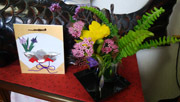 190525 お花と可愛い色紙