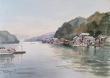 伊根の漁港