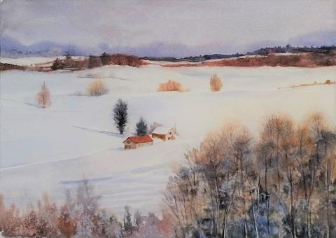 課題 雪景色